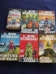 7 BOOKS BY L. RON HUBBARD/PACKAGE DEAL:5 HARDCOVER +2 PAPERBACKS
