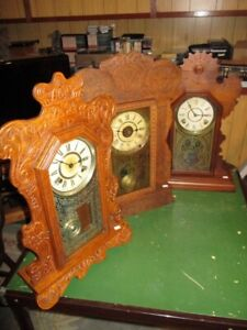 DIGNIFIED GINGERBREAD CLOCKS FROM ESTATE