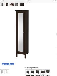IKEA HEMNES High cabinet with mirror door like new $160obo