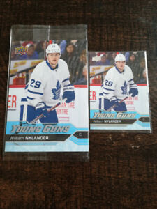 16/17 UD Young Guns Rookie Cards of Leafs William Nylander.