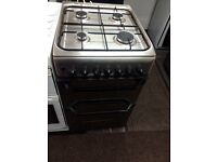 Black indesit 50cm gas cooker grill & oven good condition with guarantee