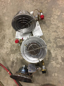 Like new construction heaters of various sizes!