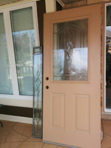 Entry Door with Window, frame and Side Light