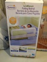 Baby/toddler bed guard rail & gates, like new, neutral colour