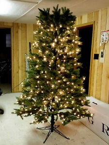 Beautiful 9 Foot Tall Pre-Lit Christmas Tree with Stand
