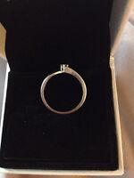 10K White Gold Diamond Ring for Sale (Size 7)