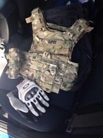 Airsoft paintball vest gants