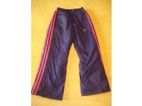 Girls ADIDAS Warm Trousers 7-8 Years