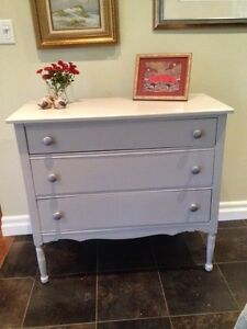 Charming Gray Antique Dresser