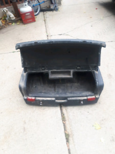 Cargo box with lights and heated grips