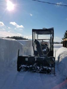Tractor lawnmower/snowblower