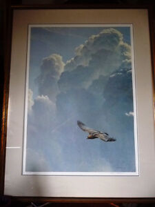 "Robert Bateman ""Flying High, Golden Eagle"" Hand Signed 1979 Stratford Kitchener Area image 1"