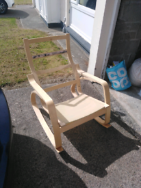 IKEA Poang Rocking Chair and foot rest
