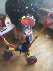 A tricycle for 2-4 year old kids. from little trike.