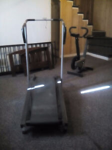 Tradmill and exercise bike