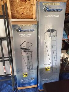 Hunting Ladder Tree Stands Two Man and Single