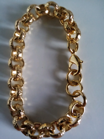 12mm luxury gold filled belcher bracelet new 8inches
