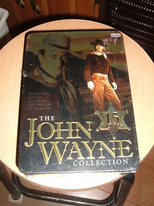 THE JOHN WAYNE COLLECTION 15 MOVIES NEW IN TIN CASE SEALED