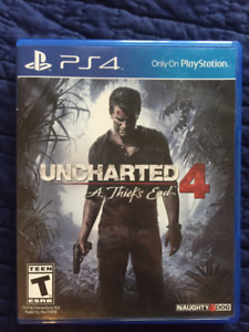Uncharted 4 for PS4 (sale or trade)