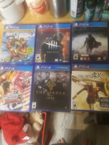 Looking to sell or trade ps4 games