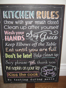 New chalkboard style Kitchen Tin sign