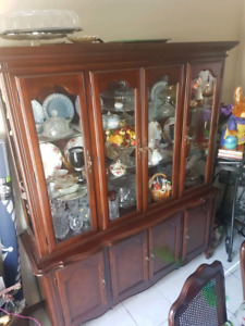 Solid wood buffet/ hutch