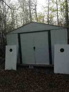 Galvanized Shed in Great Condition for Sale