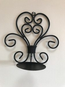 Black Rod Iron Decorative Candle Holders