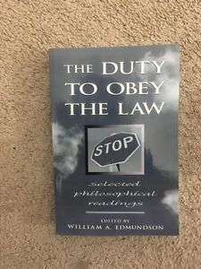 Selling The Duty to Obey the Law Selected Philosophical Reading
