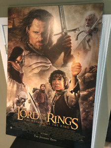 27 x 40 Lord of the Rings (Return of the King)poster on Plaque