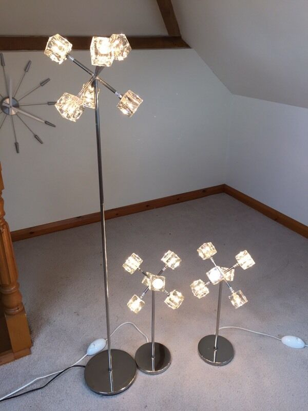 Ice cube lights ikea table floor lamp in hawkinge kent for Ice cube 3 light floor lamp