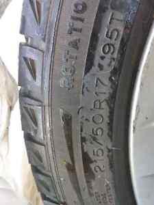 Alloys with Winter Tires  Belleville Belleville Area image 2