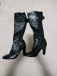 Tall black boots - pick up only