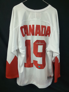 Autographed 1972 Paul Henderson Team Canada Jersey with COA. - $