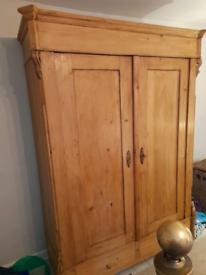 Vintage charming pine wardrobe
