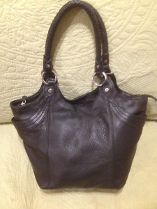"Ladies Black Leather Purse/Tote Bag by ""The Sac"""