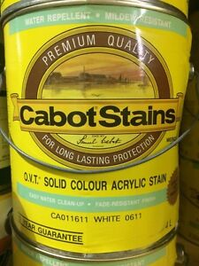 Cabot's OVT SOLID COLOUR ACRYLIC STAIN