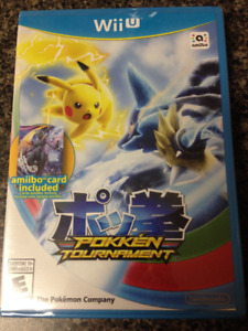 Pokken Tournament Wii U First Edition with Mewtwo amiibo Card