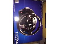 T300RS thrustmaster wheel and pedals