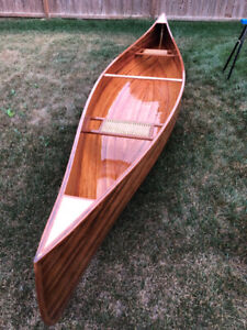 16 ft Prospector Cedar Strip Canoe