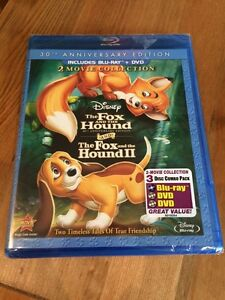 Disney's the fox and the hound 1&2 on blu ray and DVD. Sealed