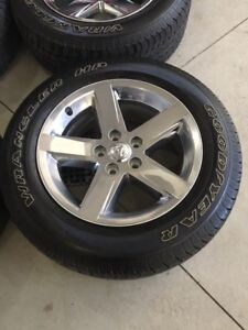 """20""""  Ram 1500 rims and tires"""
