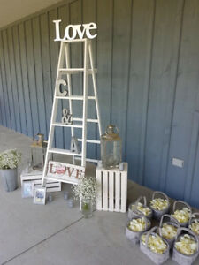 White creates. Used for wedding or home decor or patio display