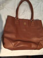 Tory Burch tan large leather tote authentic bag