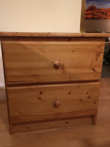 Solid Wood 2 drawer end table for sale