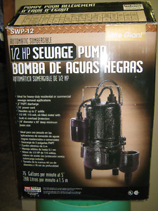 New Submersible Sewage Pump