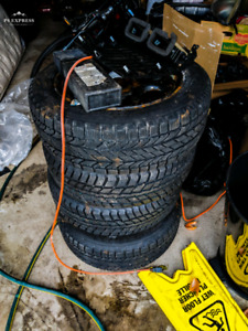Winter tires with steel rims 205/60/r16