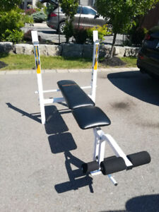 Competitor Bench Press + Leg Extension + Weights + Bar