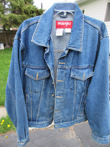 Vintage Wrangler Jean Denim Jacket Large 100% cotton