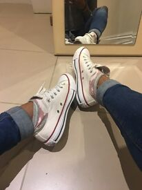 White Conversers size 4.5
